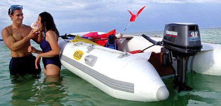 лодка под мотор 9.8 л.с тохатсу